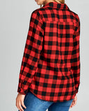 Ski Lodge Plaid Flannel in Red: Alternate View #4