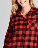 Ski Lodge Plaid Flannel in Red: Alternate View #3