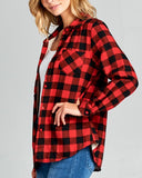Ski Lodge Plaid Flannel in Red: Alternate View #2