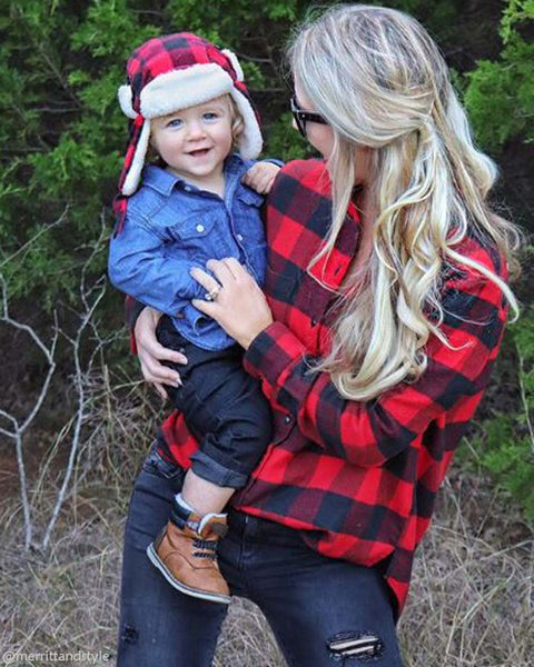 Ski Lodge Plaid Flannel in Red: Featured Product Image