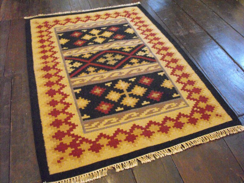 Antique Dhurrie Rug: 198cm x 137cm