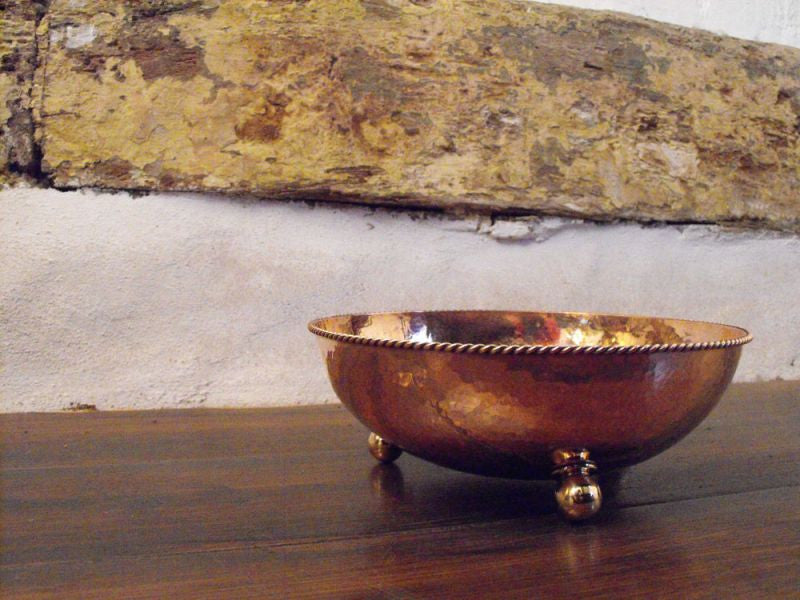 A Dryad Arts & Crafts Hammered Copper Bowl Designed by William H Pick