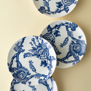 Arcadia Blue Appetizer or Canape Plates Set of 4