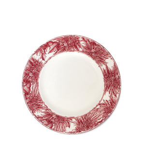 Poinsettia Red Salad Plate