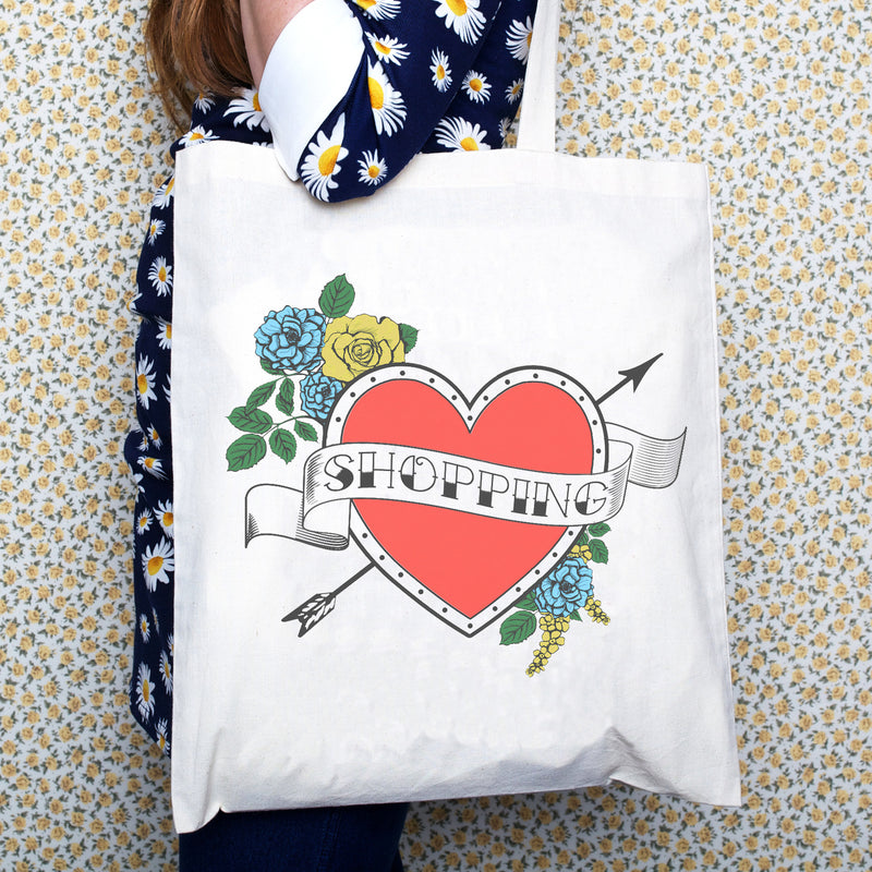 DISCONTINUED - Tattoo 'Shopping' Tote Bag-Tote Bag-Of Life & Lemons®