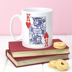DISCONTINUED - 'King of Hearts' Valentine's Mug-Of Life & Lemons®