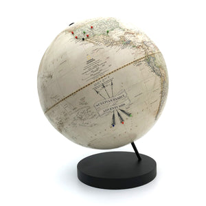 Push Pin Globe Personalized for Tracking World Travel by Wendy Gold