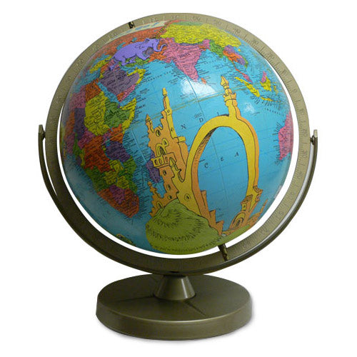Oh the Places You'll Go Vintage Globe Art by Wendy Gold