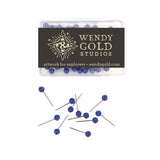 Navy Blue Globe Pins by Wendy Gold Studios