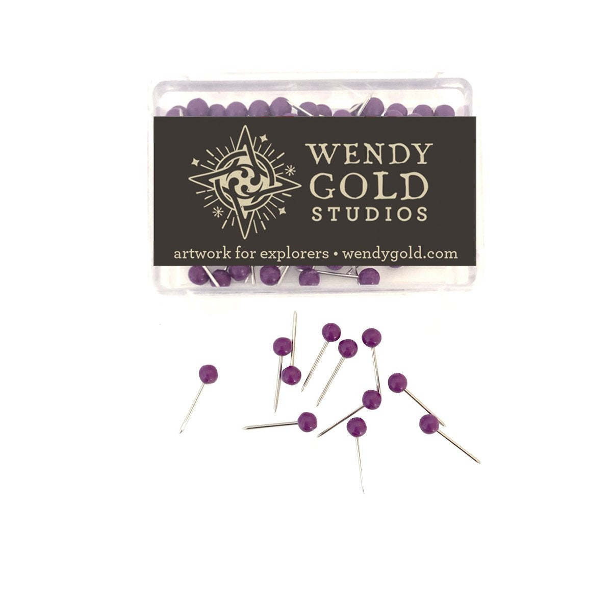Violet Globe Pins by Wendy Gold Studios