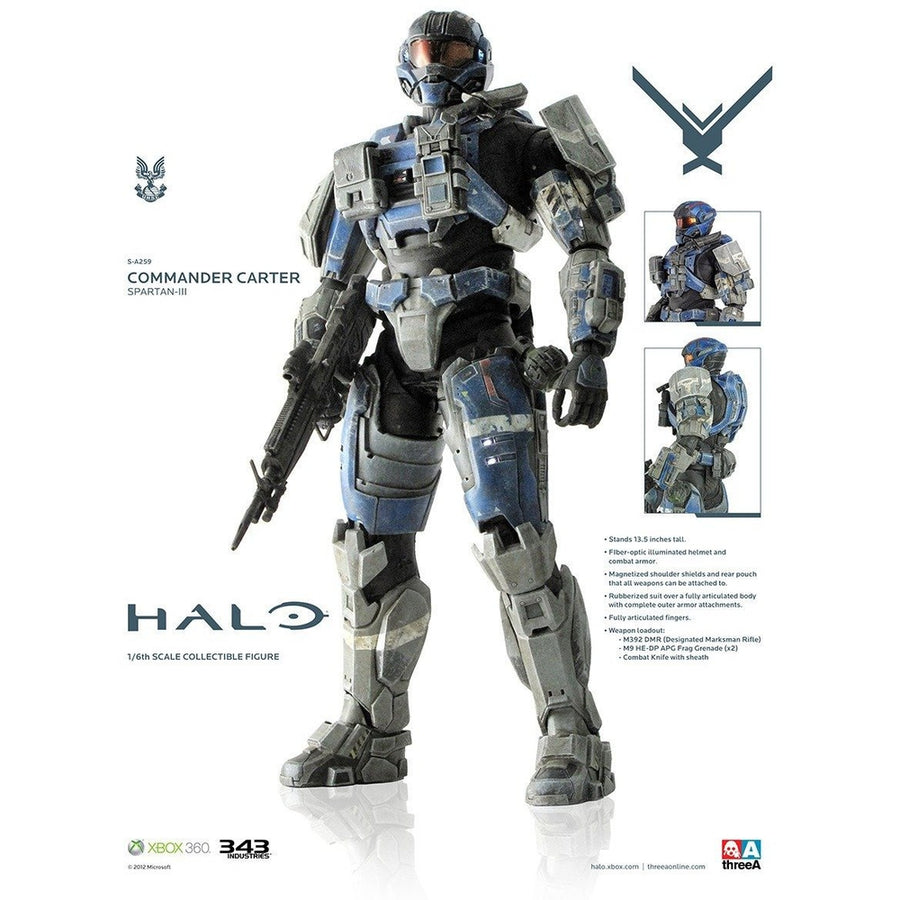 Halo Commander Carter 1/6th Scale Figure by 3A