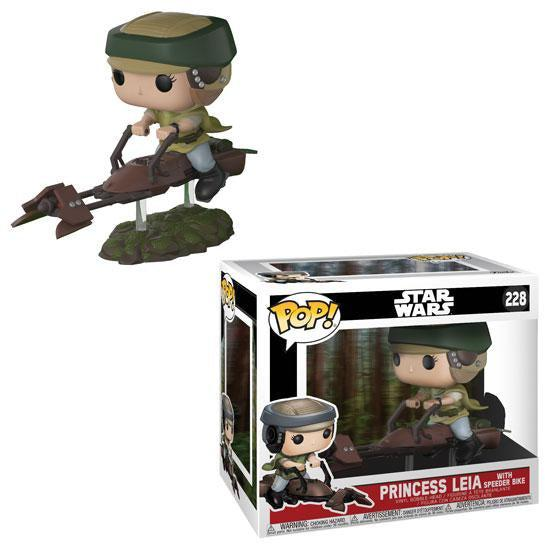 Pop! Deluxe: Leia on Speeder Bike by FUNKO