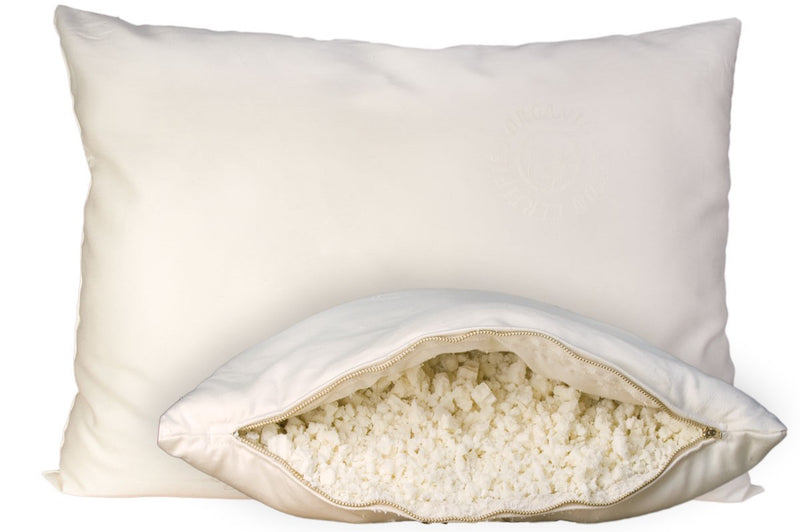OMI shredded rubber and wool pillows