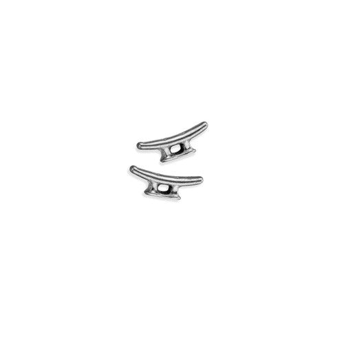 Cleat Stud Earrings in Sterling Silver