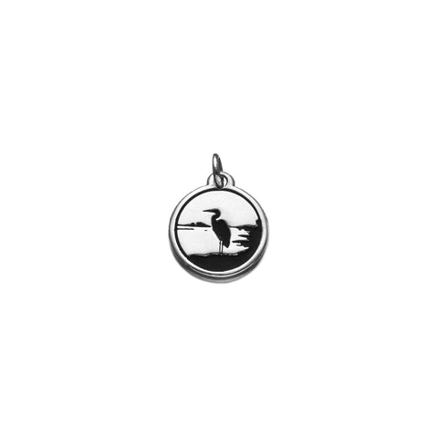 Heron Charm in Sterling Silver