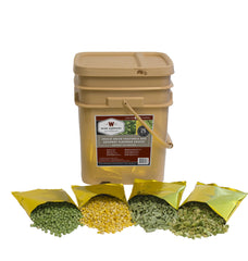 120 serving freeze dried vegetable & sauce long-term food, emergency food, survival food, freeze dried vegetables.