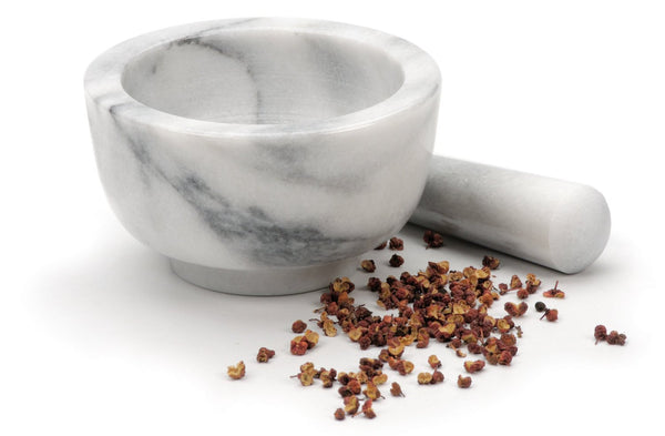 Marble Mortar & Pestle White