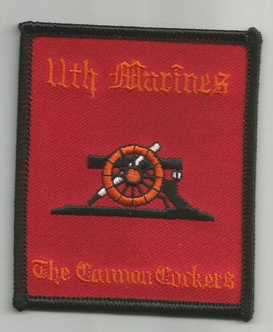 USMC 11th MARINE REGIMENT MILITARY PATCH - THE CANNON COCKERS