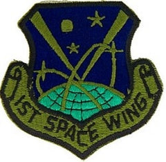 1st SPACE WING AIR FORCE MILITARY PATCH - SUBDUED
