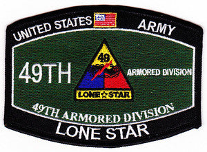 ARMY 49th Armored Division Military Occupational Specialty MOS Military Patch LONE STAR