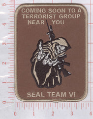SEAL TEAM SIX VI REAPER MORALE MILITARY PATCH - DARK