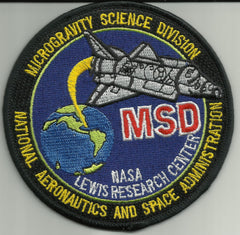NASA National Aeronautics and Space Administration SP-255 Microgravity Science Division Lewis Research Center Military Patch MSD