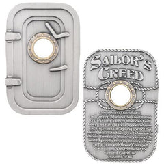 SAILOR'S CREED Door Hatch USN Challenge Coin