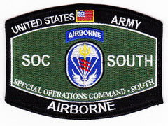 ARMY Special Operations Command Military Occupational Specialty MOS Rating South Military Patch SOC