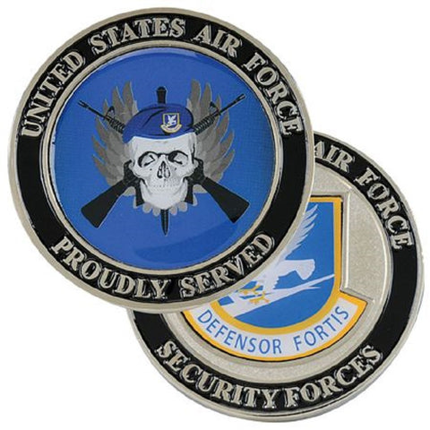 AF Security Forces PROUDLY SERVED Challenge Coin