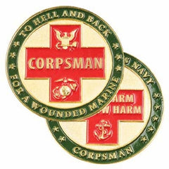 Navy Corpsman No Harm Challenge Coin
