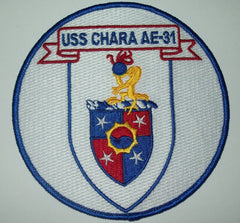 AE-31 USS CHARA AMMUNITION SHIP MILITARY PATCH