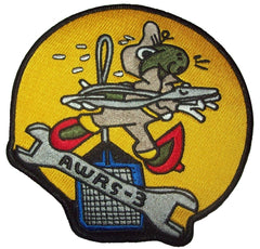 AVIATION SQUADRON MILITARY PATCH - AWRS-3 (AVIATION WOMEN'S RESERVE SQUAD)