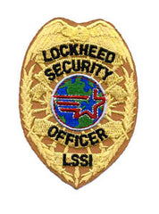 LOCKHEED SECURITY OFFICER LSSI BADGE NASA MILITARY PATCH