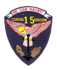 COSDIV-15 United States Navy Coastal Division Fifteen Military Patch WE CAN HACKIT