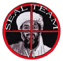 SEAL TEAM IV United States Navy Sea Air Land Special Forces Team Six Military Patch OSAMA BIN LADEN IN THE CROSS HAIRS