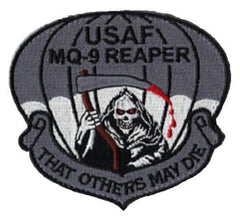 "USAF MQ-9 REAPER ""THAT OTHERS MAY DIE"" VELCRO MILITARY PATCH"