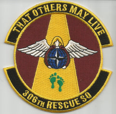 USAF 306th RESCUE SQUADRON MILITARY PATCH - THAT OTHERS MAY LIVE