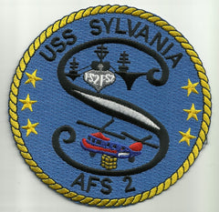 AFS-2 USS SYLVANIA MARS CLASS COMBAT STORES SHIP MILITARY PATCH