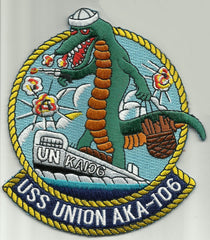 AKA 106 USS UNION Attack Cargo Ship Military Patch GATORS