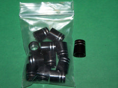 Black & Double Silver Ring .335 wood Ferrules (12pk)