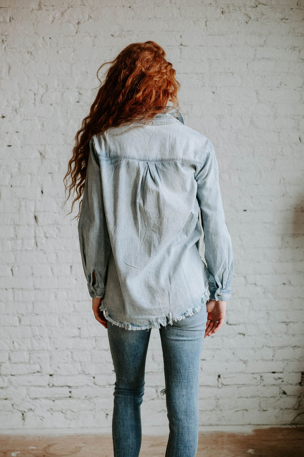 Orchard Chambray Top