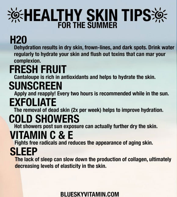 Health Skin Tips for Summer Infographic
