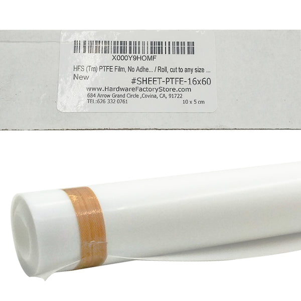 Hardware Factory Store Inc - PTFE Film, No Adhesive, Pure White, 16 x 12 inch, 60x16inch - [variant_title]