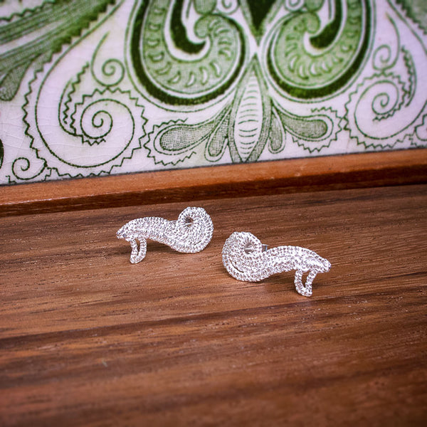 Lace Scroll Earrings