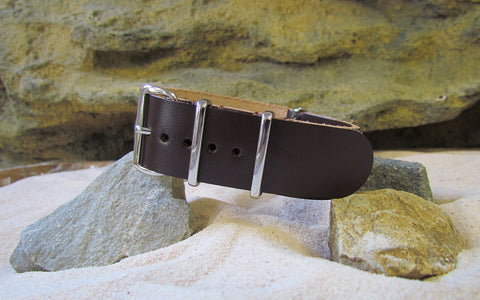 The Colt Leather Strap w/ Polished Hardware (Stitched) 18mm
