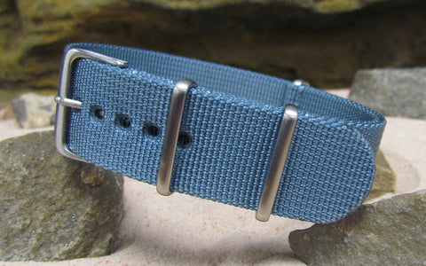 The Baltic XII Ballistic Nylon Strap w/ Brushed Hardware (Stitched) 26mm