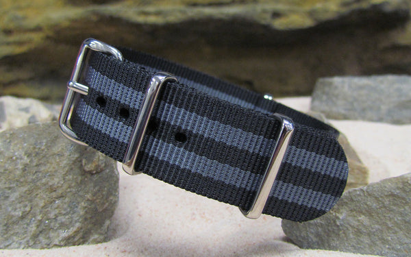 The Black-Ops II Ballistic Nylon Strap w/ Polished Hardware 24mm