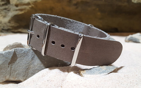 The Desperado Leather Strap w/ Polished Hardware (Stitched) 18mm