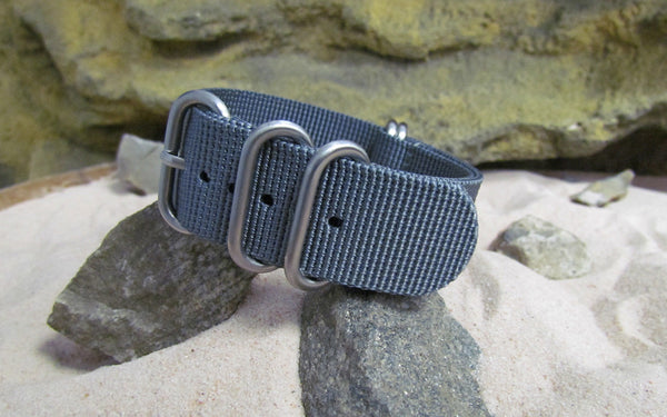 The Gray Matter Z5™ Ballistic Nylon Strap w/ Brushed SS Hardware (Stitched) 22mm
