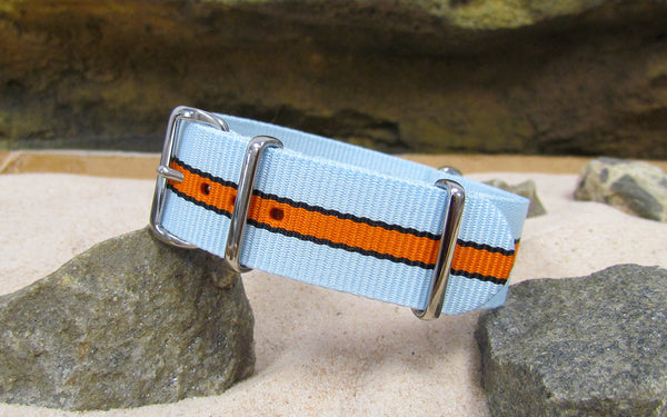 The Le Mans II Ballistic Nylon Strap w/ Polished Hardware 20mm